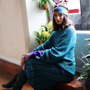 Angled Raised Row Jumper JMP18-5 Linda Wilson Knitwear Irish Designer Limerick
