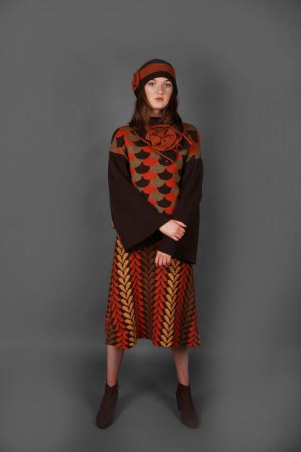 Arc Patterned Jumper JMP23-1 Linda Wilson Knitwear Irish Designer Limerick