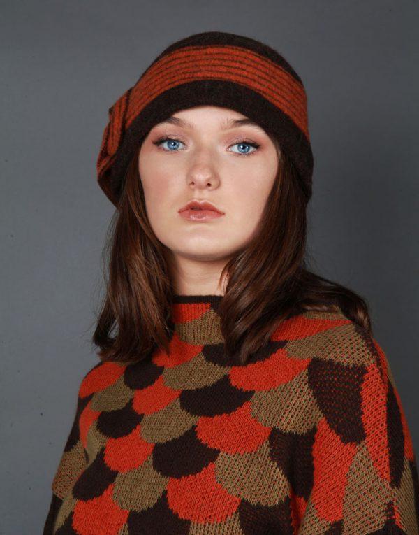 Arc Patterned Jumper JMP23-3 Linda Wilson Knitwear Irish Designer Limerick