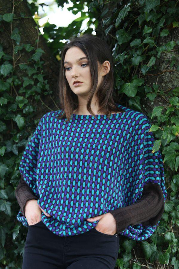 Box Tuck Jumper BOXJMP2-1 Linda Wilson Knitwear Irish Designer Limerick