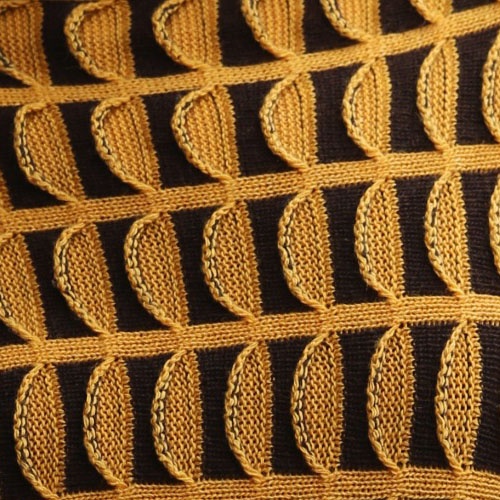 Linda Wilson Knitwear Irish Design Ireland Limerick Colour Example Sunflower Dark Brown