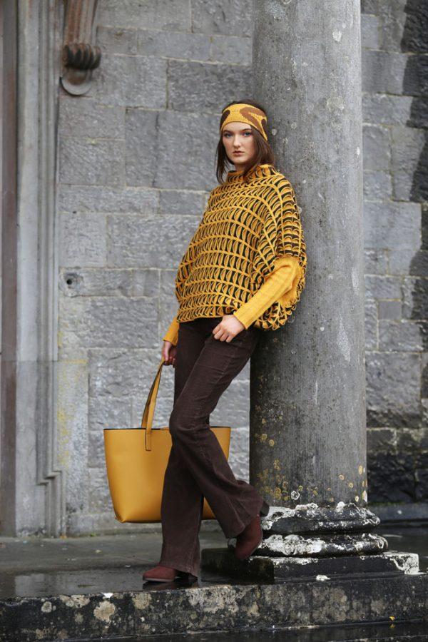 Pocket Jumper JMP20-1 Linda Wilson Knitwear Irish Designer Limerick