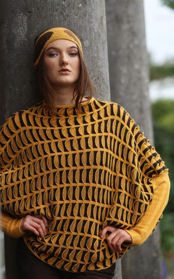 Pocket Jumper JMP20-3 Linda Wilson Knitwear Irish Designer Limerick