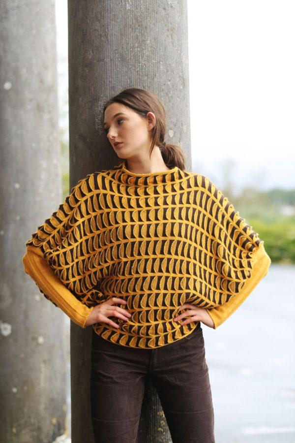Pocket Jumper JMP20-4 Linda Wilson Knitwear Irish Designer Limerick