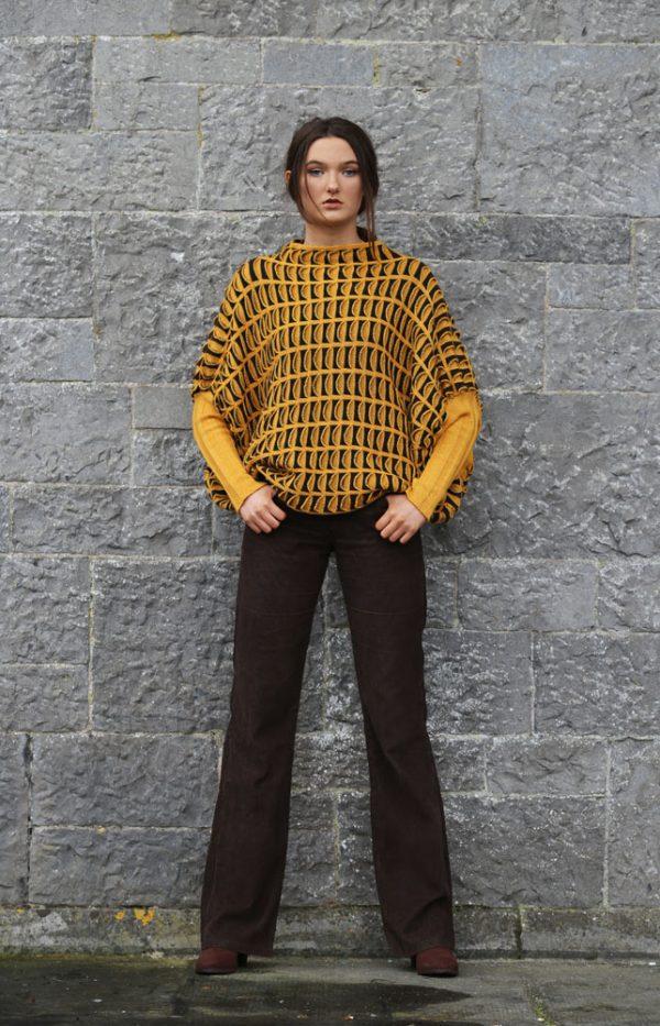 Pocket Jumper JMP20-5 Linda Wilson Knitwear Irish Designer Limerick