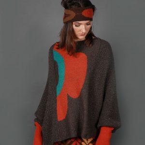 Retro Flower Jumper JMP22-4 Linda Wilson Knitwear Irish Designer Limerick