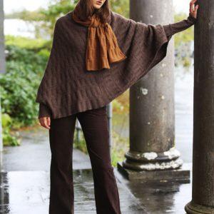 Rib Float Poncho Style Jumper 2 RIBJMP2-1 Linda Wilson Knitwear Irish Designer Limerick