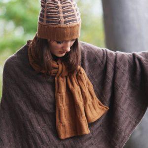Rib Float Poncho Style Jumper 2 RIBJMP2-2 Linda Wilson Knitwear Irish Designer Limerick