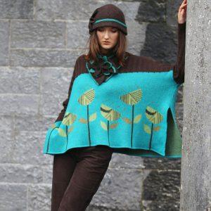 Vintage Flower Jumper JMP21-1 Linda Wilson Knitwear Irish Designer Limerick