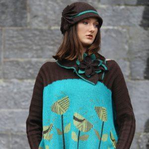 Vintage Flower Jumper JMP21-2 Linda Wilson Knitwear Irish Designer Limerick