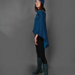 Draped Poncho PON3-2 Linda Wilson Knitwear Irish Designer Limerick
