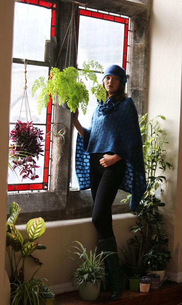 Draped Poncho PON3-4 Linda Wilson Knitwear Irish Designer Limerick