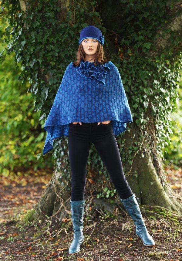 Draped Poncho PON3-6 Linda Wilson Knitwear Irish Designer Limerick