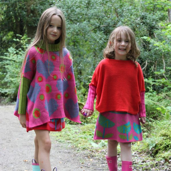 Draped Jumper JMP7-1 Linda Wilson Knitwear Irish Childrens Knitwear Designer Limerick