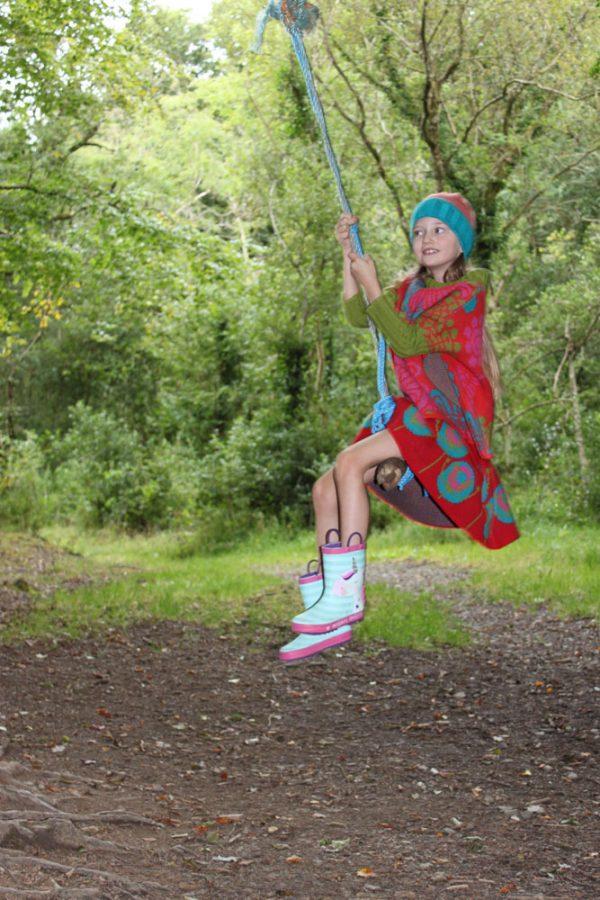 Flower Jumper JMP3-1 Linda Wilson Knitwear Irish Childrens Knitwear Designer Limerick