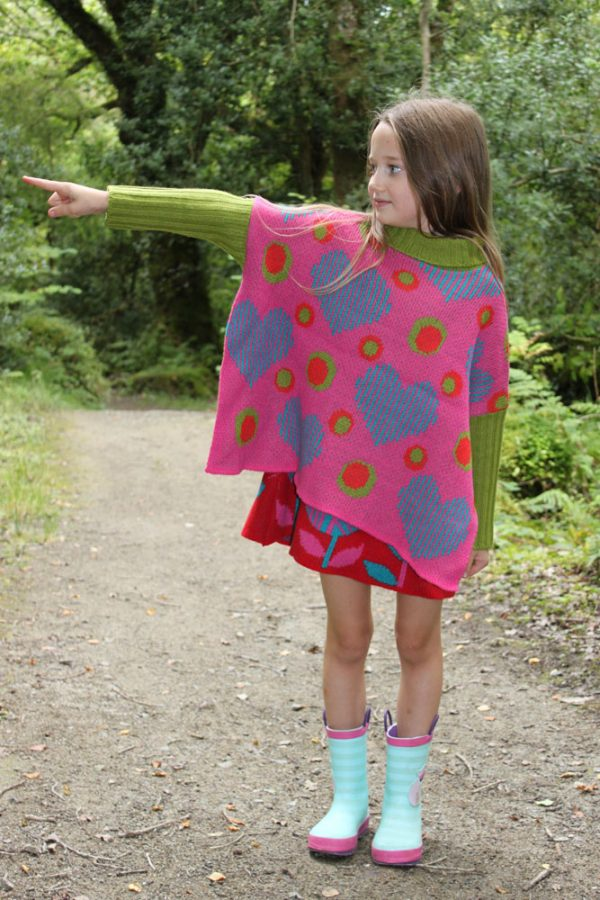 Heart Dot Jumper JMP4-1 Linda Wilson Childrens Knitwear Irish Designer Limerick