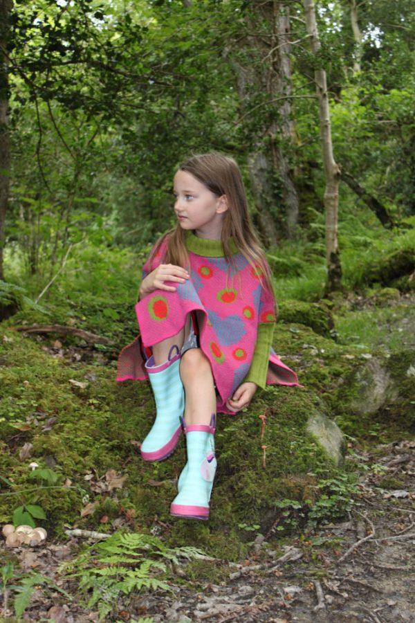 Heart Dot Jumper JMP4-2 Linda Wilson Childrens Knitwear Irish Designer Limerick