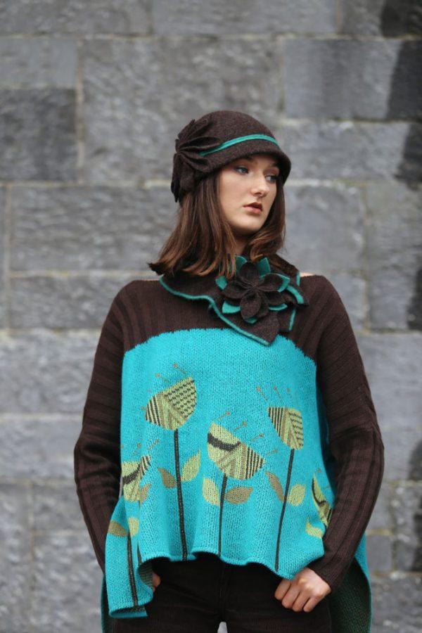 Large Petal Cloche Hat HAT28-1 Linda Wilson Knitwear Irish Designer Limerick