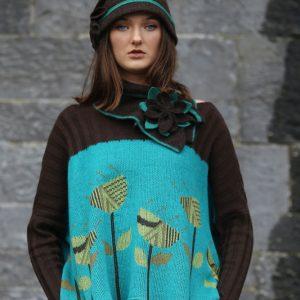 Large Petal Cloche Hat HAT28-2 Linda Wilson Knitwear Irish Designer Limerick