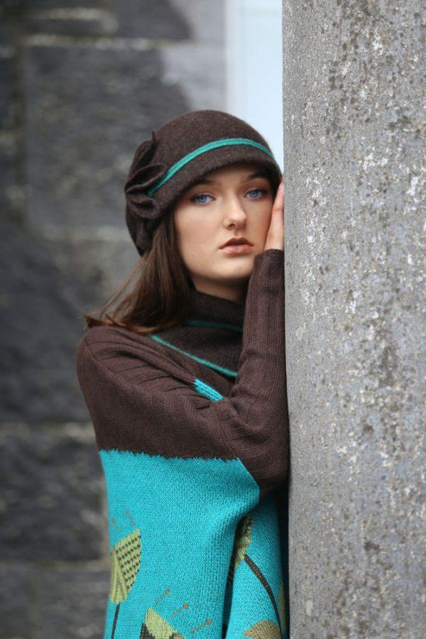Large Petal Cloche Hat HAT28-3 Linda Wilson Knitwear Irish Designer Limerick