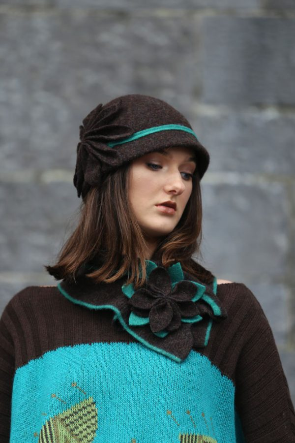Large Petal Cloche Hat HAT28-4 Linda Wilson Knitwear Irish Designer Limerick