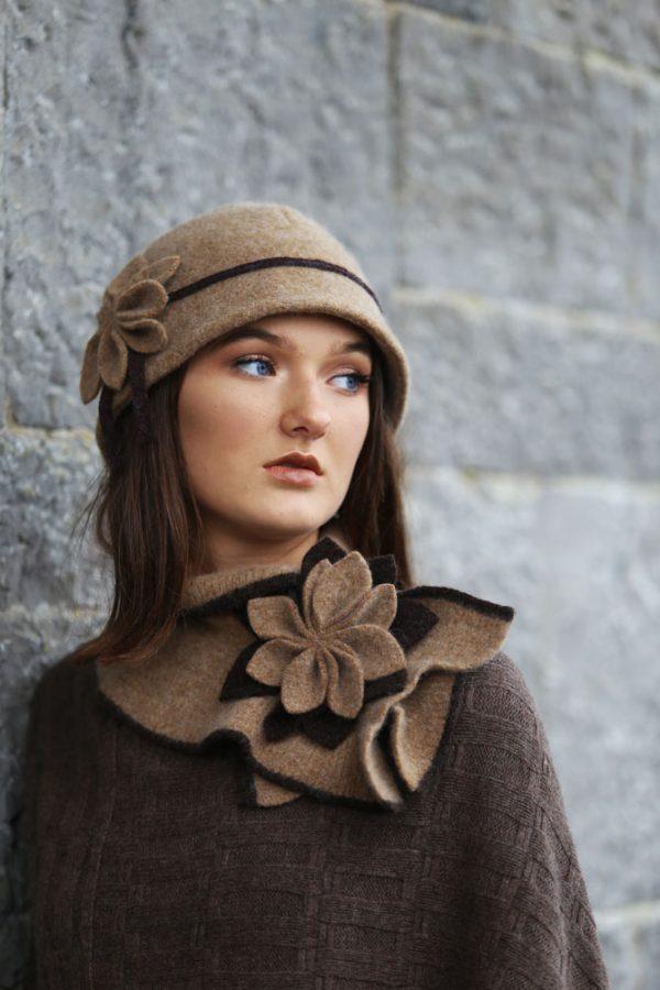 Petal Cloche Hat HAT27-1 Linda Wilson Knitwear Irish Designer Limerick