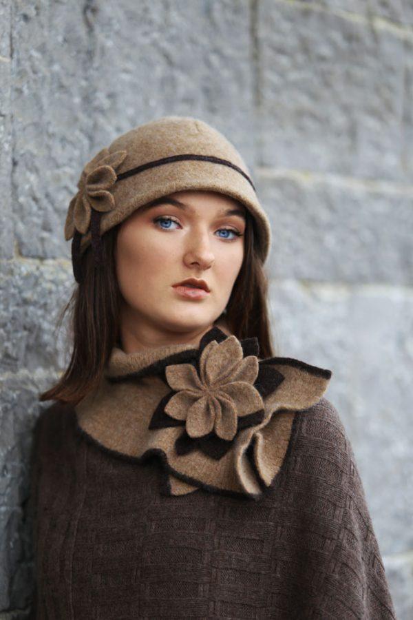 Petal Cloche Hat HAT27-3 Linda Wilson Knitwear Irish Designer Limerick