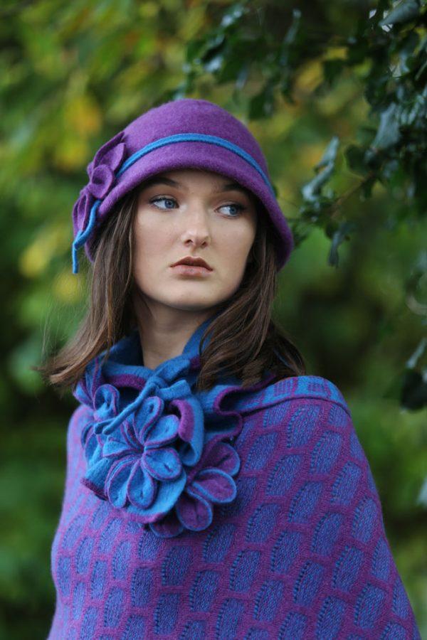 Petal Cloche Hat HAT27-4 Linda Wilson Knitwear Irish Designer Limerick