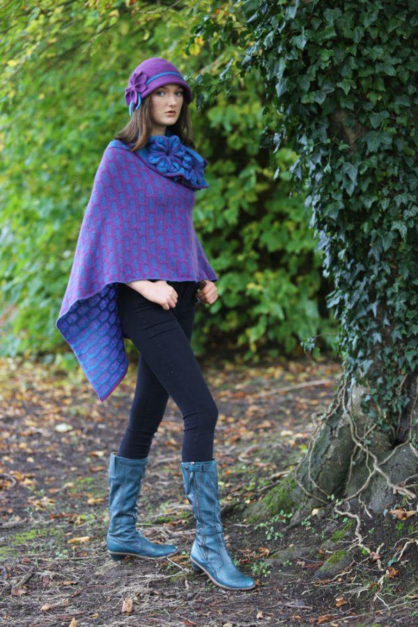 Petal Cloche Hat HAT27-6 Linda Wilson Knitwear Irish Designer Limerick