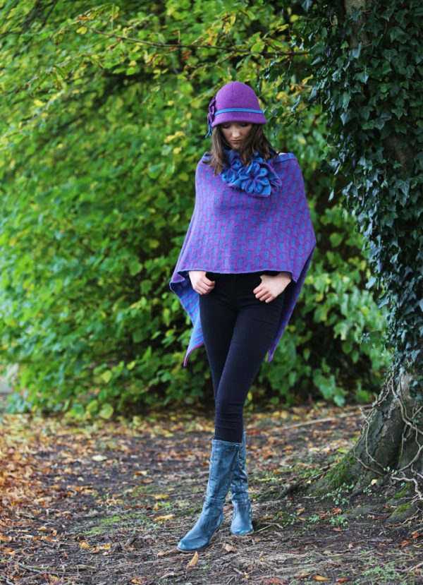 Petal Cloche Hat HAT27-7 Linda Wilson Knitwear Irish Designer Limerick