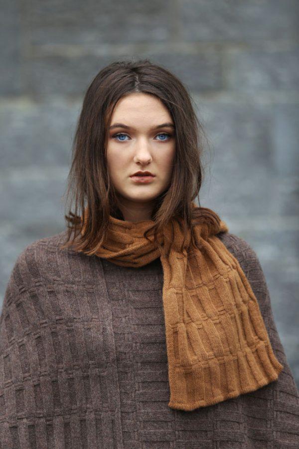 Ribbed Pocket Hat SCF27-3 Linda Wilson Knitwear Irish Designer Limerick