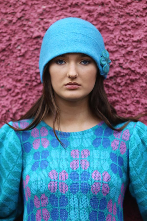 20's Blossom Hat 1 Linda Wilson Irish Knitwear Designer Limerick