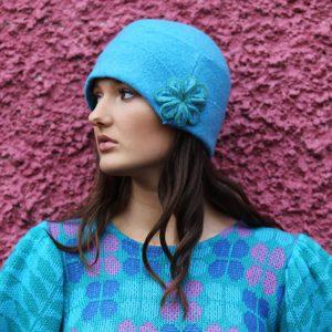 20's Blossom Hat 2 Linda Wilson Irish Knitwear Designer Limerick