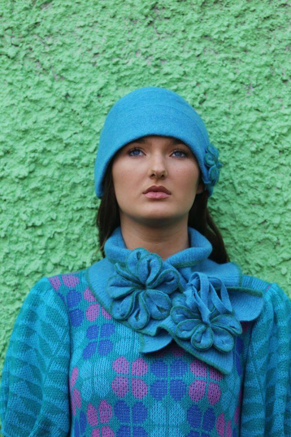 20's Blossom Hat 3 Linda Wilson Irish Knitwear Designer Limerick