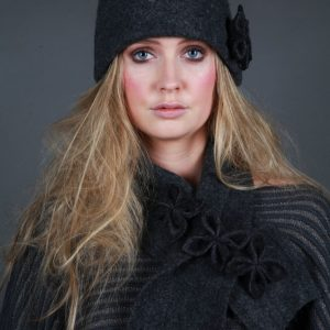 20s Style Origami Hat HAT1-1 Linda Wilson Irish Knitwear Designer Limerick