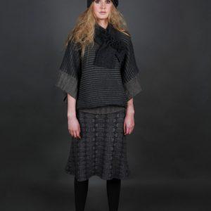 20s Style Origami Hat HAT1-2 Linda Wilson Irish Knitwear Designer Limerick
