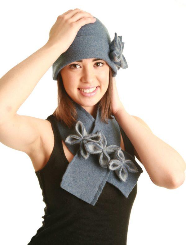 20s Style Origami Hat HAT1-3 Linda Wilson Irish Knitwear Designer Limerick