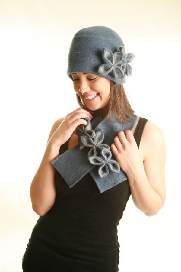 20s Style Origami Hat HAT1-4 Linda Wilson Irish Knitwear Designer Limerick