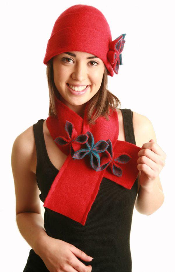 20s Style Origami Hat HAT1-5 Linda Wilson Irish Knitwear Designer Limerick