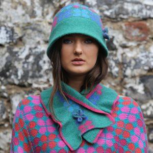 4 Petal Deep Brim Hat 1 Linda Wilson Irish Knitwear Designer Limerick