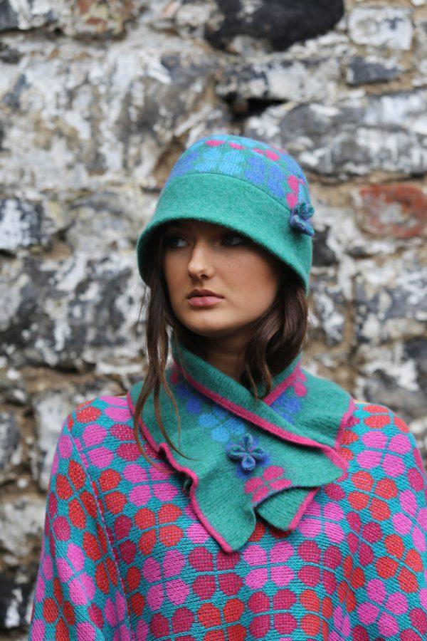 4 Petal Deep Brim Hat 2 Linda Wilson Irish Knitwear Designer Limerick