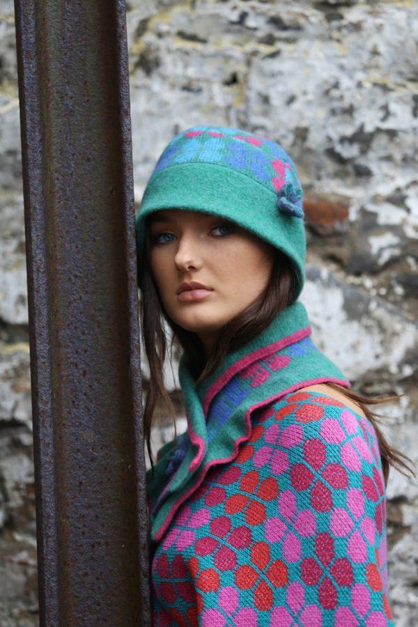 4 Petal Deep Brim Hat 3 Linda Wilson Irish Knitwear Designer Limerick