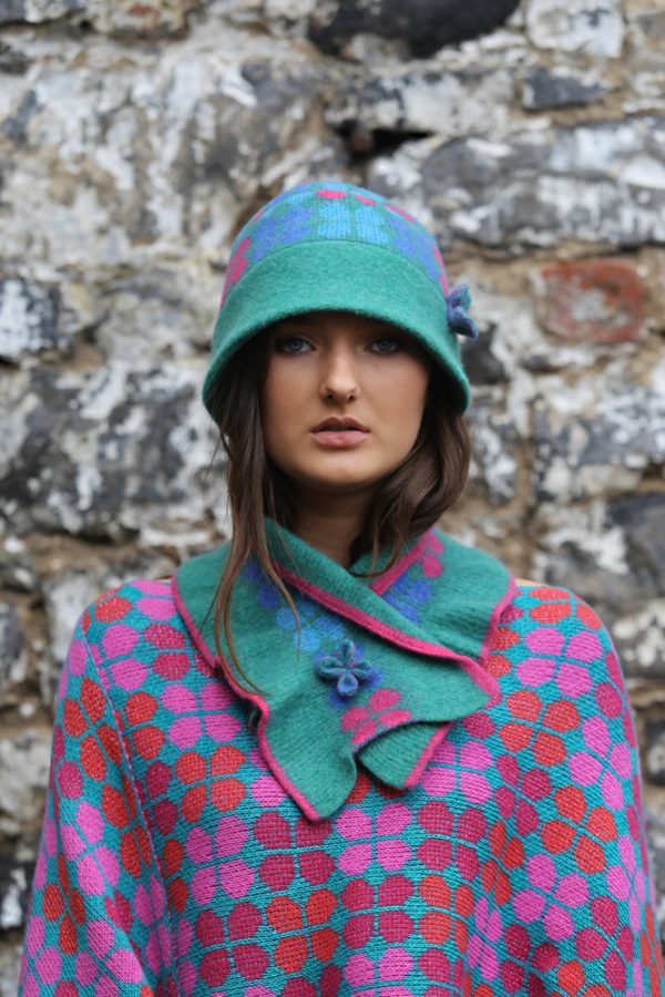 4 Petal Scarf 1 Linda Wilson Irish Knitwear Designer Limerick