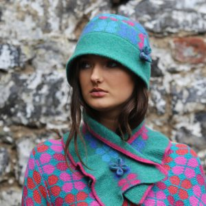 4 Petal Scarf 2 Linda Wilson Irish Knitwear Designer Limerick