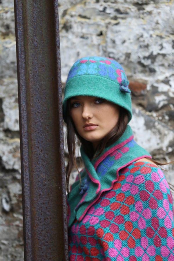 4 Petal Scarf 3 Linda Wilson Irish Knitwear Designer Limerick
