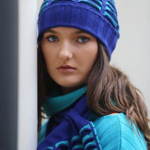 Beanie Ribbed Pocket Hat 1 Linda Wilson Irish Knitwear Designer Limerick