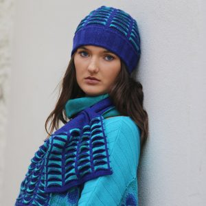 Beanie Ribbed Pocket Hat 2 Linda Wilson Irish Knitwear Designer Limerick