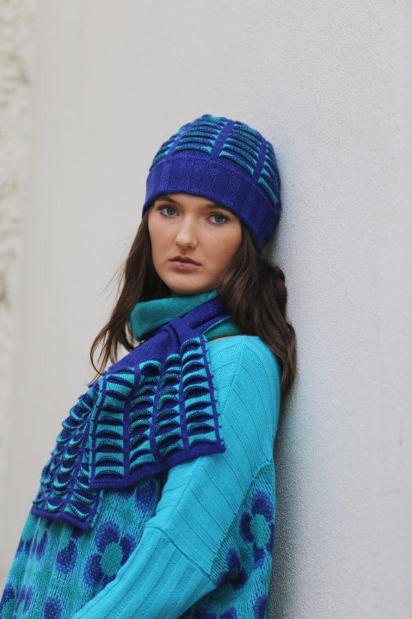 Beanie Ribbed Pocket Hat 2 Linda Wilson Irish Knitwear Designer Limerick