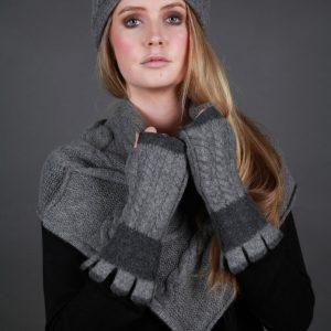 Beret Style Cable Hat HAT19-1 Linda Wilson Irish Knitwear Designer
