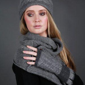 Beret Style Cable Hat HAT19-2 Linda Wilson Irish Knitwear Designer